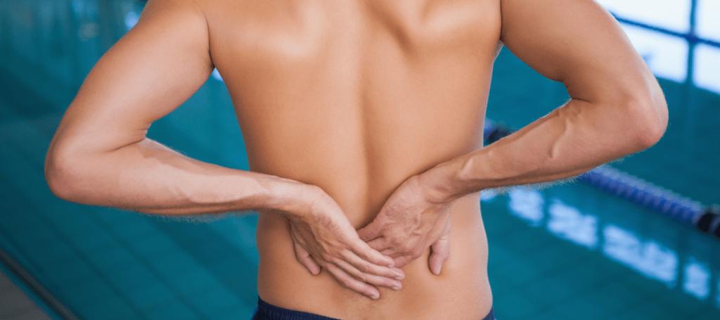 dolor de espalda al correr o nadar
